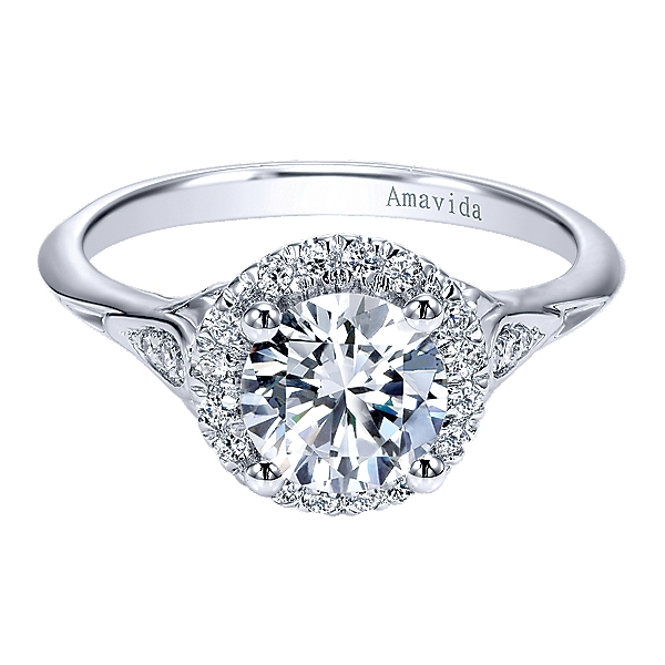 Diamond Semi-Mount Ring by Gabriel & Co